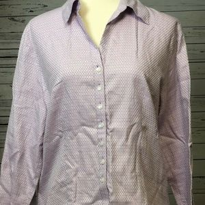 Talbots Tops - Talbots Button Front Blouse size 12 Long sleeve